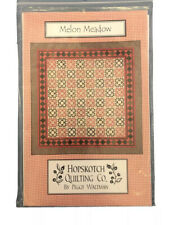 "Hopskotch Quilting Company, ""Melon Meadow"" Quilt Pattern, Peggy Waltman 86x86"
