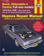 Istruzioni di riparazione Oldsmobile 88, 98, Custom Cruiser U. Brougham 70-85