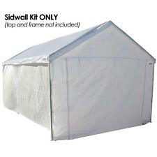10'x20' Auto Shelter Portable Garage Shed Canopy Carport Side Wall Kit ?nly NEW