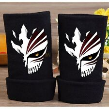 Anime Bleach Kurosaki ichigo Logo Half Finger Glove Cotton Mitten Cosplay Gifts