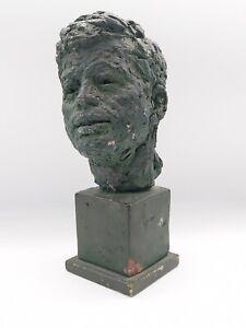 JOHN F. KENNEDY Bust Sculpture Head ORIGINAL PIECE ROBERT BERKS 1965 AWARD ILGWU