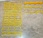 Tyco Speedway Tyco S HO Scale Slot Car Yellow GUARD RAILS Lot of 28 pcs New!