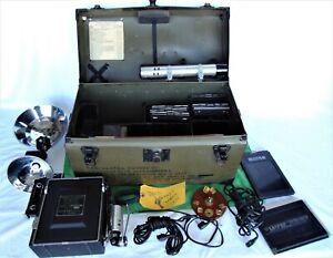 Graflex Military Speed Graphic 4x5 Still Camera Optar 135mm F4.7 Lens, Extras+++