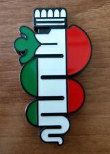 ALFA ROMEO Emblem Snake Logo Italian flag with sticker 90/46 mm