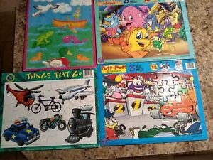 Lot of 5 Board Puzzles 12 - 25 Pieces Each Age 3 to 8