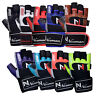 Weight Lifting Gym Padded Leather Training Workout Fitness Large Strap Gloves