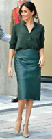 Hugo Boss Vanufa Virgin Wool Pencil Skirt in Pine Green Size 8 & 10 NWT