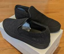 $450 Mens Common Projects Wool Slip On Low-Top Sneakers Charcoal 42 US 9