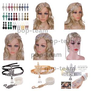 1920s Flapper Headpiece Great Gatsby Wedding Jewelry Set Bridal Hair Accessories