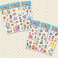 10 Packs of  Princess Reusable Stickers - ideal for party bag and gifts