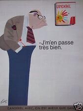 PUBLICITÉ 1997 CANDEREL AVEC ON EST MIEUX QUE SANS - KIRAZ - ADVERTISING