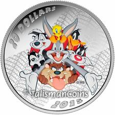 Canada 2015 Looney Tunes Merrie Melodies $20 1 Oz Pure Silver Proof with Color