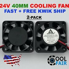 2 pcs 24V 40mm Cooling Case Fan 4010 40x40x10mm DC RepRap 3D Printer 2-Pin