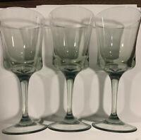Set Of (3) Plastic Wine Glasses Pale Green