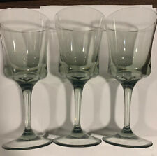 Set Of (3) Plastic Wine Glasses Pale Green