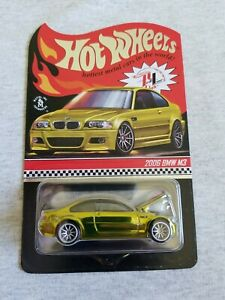 2021 Hot Wheels RLC 2006 BMW M3 Yellow EXCELLENT CARD