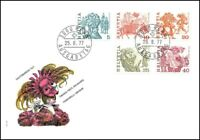 FDC Suisse - Timbres poste ordinaires 25.8.1977