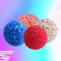 Artificial Silk Rose Kissing Flower Ball Pomander Wedding Party Bouquet HPP