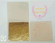 PURE 24K GOLD LEAF SHEET BOOK OF 5, FOOD GRADE EDIBLE,DECORATING,ART 3.5x3.5cm