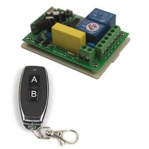 AC 220 V 2 Way Wireless Switch 1 Receiver + 1 Transmitter Remote Control ON OFF