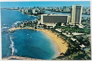 Vintage San Juan Puerto Rico Caribe Hilton International Postcard