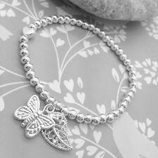 Encantos de la mariposa pulsera con dijes de la vida – – Regalo – Joyas De Plata