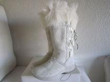 TECHNICA White/Lite Grey Goat  Fur Apres Ski Boots  Italy Sz 6-6.5 $419+tax