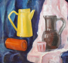 Still life with pitchers and cups oil painting
