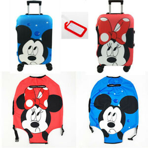 DISNEY Minnie Mickey Mouse Protection Luggage Cover With Free Luggage Tag