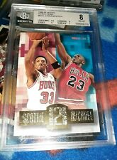 1996-97 Hoops Head to Head Card #HH2 Michael Jordan/Scottie Pippen BECKETT 8