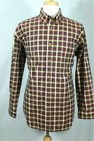 ORVIS Men's Plaid Button Down Size Large 100% Cotton Casual Mid-Weight Durable
