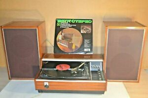 Rare Soviet Vega 101 Stereo Recorder. With a corporate disk and speakers. Works