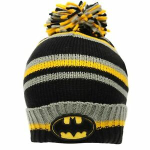 Batman - Striped - Adults One size bobble hat