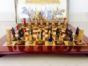 Chess pieces Crusader Vs Saracen  CRUSADE (32 pieces)+board AMBASSADOR 52х52