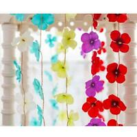 2M Fabric Flower Vine Hanging Garland For Wedding Party Home Garden Decoration