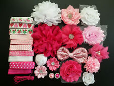 Baby Shower Station,Deluxe DIY kits,Headband,shabby flowers Party Supply,DIY S16