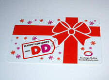 1 NEW DUNKIN DONUTS HAPPY HOLIDAYS GIFT CARD NO CASH VALVE GREAT GIFT CARD