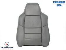 2002-2003 Ford F250 Lariat Crew-Passenger Side Lean Back Leather Seat Cover Gray