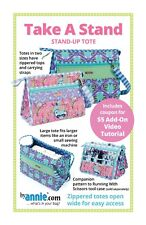 Take A Stand - Sewing Craft PATTERN - Bag Bags Stand Up Tote Storage