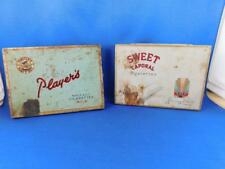 PLAYERS NAVY CUT MILD SWEET CAPORAL CIGARETTE TOBACCO TINS LOT 2 METAL ADVERTISE
