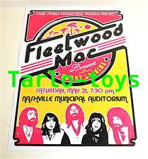 FLEETWOOD MAC - Nashville, Us - 21 May 1977  - concert poster