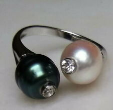 UNIKAT Barock Südsee Tahiti Perlen Ring Silber 925 verstellbar Damenring  Doppel