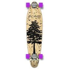 Yocaher Kicktail Longboard Complete - In the Pines : Natural