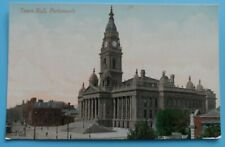Postcard - Town Hall, Portsmouth - Valentine's series - Unposted