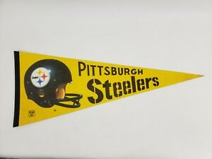 "Pittsburgh Steelers 12""x30"" Premium Felt Pennant NFL Football"
