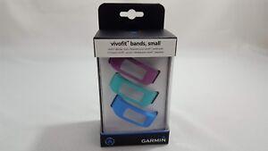 Garmin Vivofit Replacement Fitness Bands 3 Pack Blue Aqua Purple Small or Large