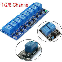 TOP 5V 1/2/8 Channel Relay Board Module Optocoupler LED for Arduino PiC AVR ARM