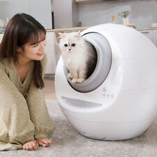 Automatic Self Cleaning Cats Sandbox Smart Litter Box Pets Closed Tray Toilet