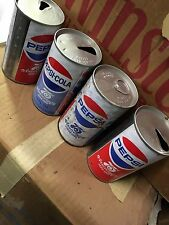 75th Anniversary Pepsi cans x 4