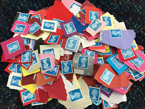100 x UK Royal Mail 2nd Class Unfranked Security Stamps On Paper -Face £65